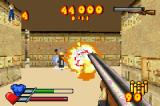 Serious Sam Game Boy Advance Setting off a chain reaction with the double-barrel coach gun