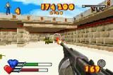 Serious Sam Game Boy Advance Thompson sub machine gun in action
