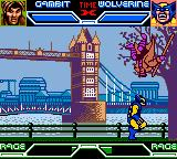 X-Men: Mutant Academy Game Boy Color Wolverine throws Gambit