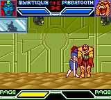 X-Men: Mutant Academy Game Boy Color Mystique performs a grab on Sabretooth