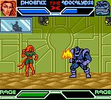 X-Men: Mutant Academy Game Boy Color Phoenix throws a fireball at Apocalypse