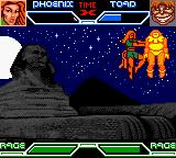 X-Men: Mutant Academy Game Boy Color Phoenix performs a flying throw on Toad