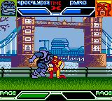 X-Men: Mutant Academy Game Boy Color Apocalypse head-butts Pyro