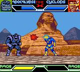 X-Men: Mutant Academy Game Boy Color Cyclops uses his optic blast on Apocalypse