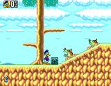 Deep Duck Trouble starring Donald Duck SEGA Master System Whacking these bricks makes them slide across the ground