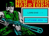 NY Warriors ZX Spectrum Loading screen