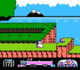 Yume Penguin Monogatari NES Lovely backgrounds... but we have no time, we must lose weight!