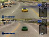 Need for Speed III: Hot Pursuit PlayStation At the starting line in two-player mode