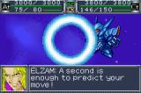 Super Robot Taisen Original Generation Game Boy Advance Elzam, taunting his enemy as he evades an attack.