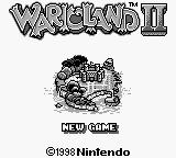 Wario Land II Game Boy Title screen