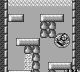 Wario Land II Game Boy Bubble Wario can float past that barrier at the top of the screen.