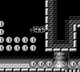 Wario Land II Game Boy Flat Wario drifts downward