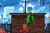 Spider-Man Game Boy Advance First boss fight.  Spider-Man isn't doing so well.