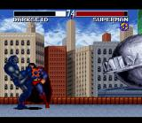 Justice League: Task Force SNES Darkseid knees Superman in the face
