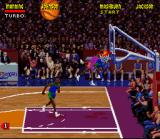 NBA Jam Tournament Edition SNES Johnson puts it away