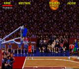 NBA Jam Tournament Edition SNES Mashburn scores one for the Mavericks