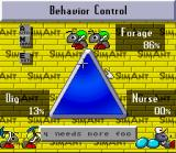 SimAnt: The Electronic Ant Colony SNES The behavior control menu.  Use it to set tasks for the ants you aren't controlling directly.
