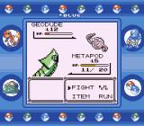 Pokémon Blue Version Game Boy Metapod vs. Geodude