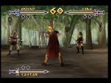 Xena: Warrior Princess - The Talisman of Fate Nintendo 64 The start of a three-way battle, Ephiny vs. Xena vs. Caesar
