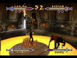 Xena: Warrior Princess - The Talisman of Fate Nintendo 64 Despair knocks Lao Ma out of the air and hits Joxer 2 with his boulder throw. You can see Joxer 1 running up the wall in the background.