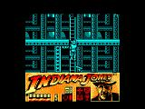 Indiana Jones and the Last Crusade: The Action Game Amstrad CPC Climbing a ladder