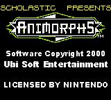 Animorphs Game Boy Color Title screen