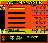 Animorphs Game Boy Color Ani-Manager