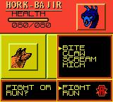 Animorphs Game Boy Color Fighting