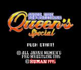 Super Fire Pro Wrestling Queen's Special SNES Title screen