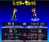 Super Fire Pro Wrestling Queen's Special SNES Selecting wrestlers