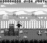 "Daffy Duck: ""Fowl Play"" Game Boy Color Daffy vs. the bowler chicken in B&W"