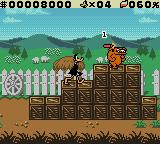 "Daffy Duck: ""Fowl Play"" Game Boy Color Daffy set dynamite on the dog's head.  He just needs to wait a few seconds."