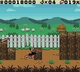 "Daffy Duck: ""Fowl Play"" Game Boy Color Daffy pushes a crate so he can jump to a high ledge."