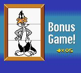 "Daffy Duck: ""Fowl Play"" Game Boy Color Try to match all parts of the character between levels for bonuses."