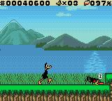 "Daffy Duck: ""Fowl Play"" Game Boy Color That spider just noticed Daffy."