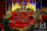 DOOM II Game Boy Advance Main menu