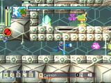 Mega Man Network Transmission GameCube Mega Man fires his buster at a cannon virus