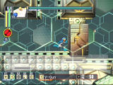 Mega Man Network Transmission GameCube A security cube blocks Mega Man's path