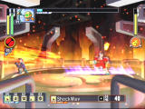 Mega Man Network Transmission GameCube Sending a shockwave back towards FireMan