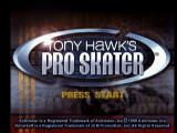 Tony Hawk's Pro Skater Nintendo 64 Title screen