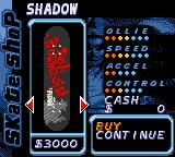 Tony Hawk's Pro Skater 2 Game Boy Color The skateboard shop