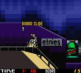Tony Hawk's Pro Skater 2 Game Boy Color Bob Burnquist grinds a rail