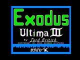 Exodus: Ultima III Apple II Title Screen