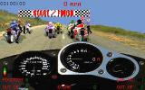 Cyclemania DOS Starting a race in full-screen race view