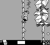 The Simpsons: Bart & the Beanstalk Game Boy Bart can climb the skinny vines.