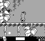 The Simpsons: Bart & the Beanstalk Game Boy Throwing dynamite at a swarm of flies