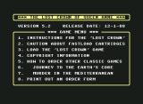 The Lost Crown of Queen Anne Commodore 64 Main menu