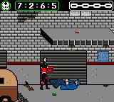 Spawn Game Boy Color Beating up a thug in an alley