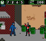 Spawn Game Boy Color Spawn can guns as well as his fists.