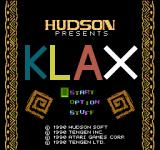 Klax NES Japanese title screen